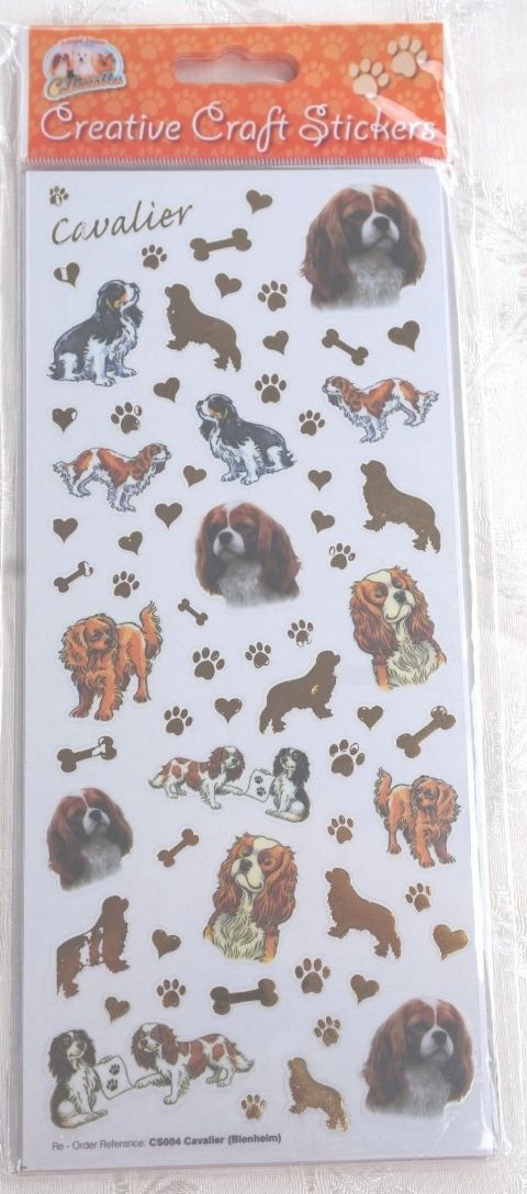 CAVALIER - BLENHEIM & RUBY & TRI CRAFT STICKERS FOR CARD CRAFT ETC